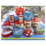 Huge Lot - Vintage Christmas Tins