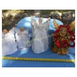 4pc Lighted Christmas Angels