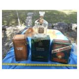 4pc Vintage Liquor Boxes & Bottles