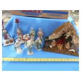 Vintage Nativity Sets & Snowman Candle Sticks