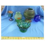 5pc Vintage Collector Glass