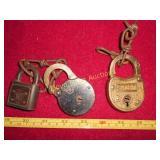 3pc Antique Locks