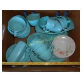 Large Set Mid Century Melmac Dinner Ware