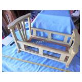 Vintage Wood Doll Cradle