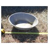 Vintage Granite Ware Large Oval Wash Tub