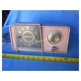 Vintage GE Pink AM Clock Radio