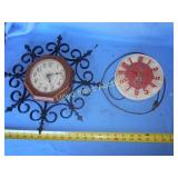 2pc Vintage Kitchen Wall Clocks