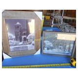 2pc Wood Frame St. Peters Catholic Church Prints