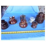 7pc Large Vintage Ceramic Electric Insulators