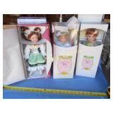 3pc Paradise Galleries Premiere Porcelain Dolls