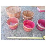 5pc Wood Bushel Baskets