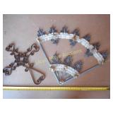 Pair of Heavy Wrought Iron Wall Decor