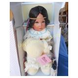 Paradise Galleries Native American Porcelain Doll