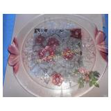 Mikasa Rosella Glass Serving Tray NIB