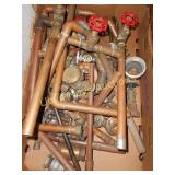 Large Lot - Copper Pipe / Brass Valves