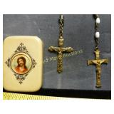 2pc Vintage Catholic Rosary