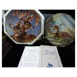 2pc Whitetail Deer Collector Plates