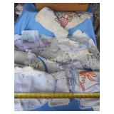 Large Lot *- Vintage Embroidered Linens