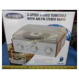 Jensen Turn Table AM/FM Stereo NIB
