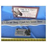 3pc New Wood & Ceramic Signs