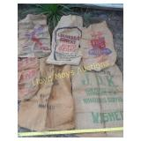 6pc Vintage Burlap Sacks