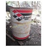 Johnson Wax 55 Gallon Steel Barrel w/ Lid
