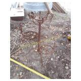Vintage Wrought Iron 4 Tier Stair Case Plant Stand