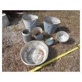 Vintage Planter Buckets / Pails / Pans
