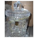 5th Ave Crystal Biscuit Jar / Gel Candle - NEW