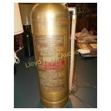 Antique Brass SodAcid Fire Extinguisher Lamp