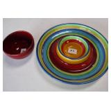 "5"" Oakley Bowl & Pierce Chip/Dip Rainbow Stripe"