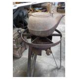 Burner & Cast Iron Tea Pot