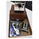 Box of 3 Cameras Polaroid & Kodak
