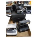 1 Kodak w/ Case & 2 Polaroid Cameras