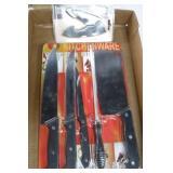 5 Piece Knife Set & 1 Schrade Knife