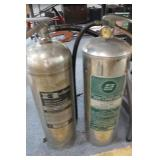 2 Stainless Fire Extinguishers