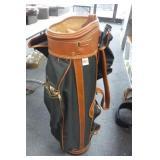 Black / Brown Golg Bag w/ Club Cover