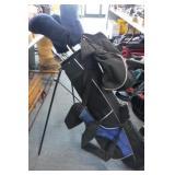 Blue / Black Golf Bag w/ Wilson Clubs