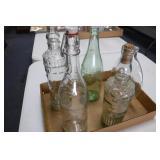 5 Glass Bottles