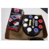 Poker Chip Set & Card Shuffler