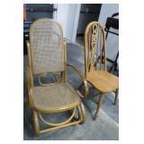 Wooden Rocker & Chair