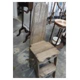 Vintage Wooden Stool / Ironing Board