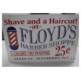 Floyds Shave & Haircut Sign