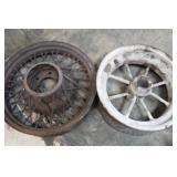 2 Vintage Metal Wheels