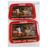 2 Coca Cola Dinner Trays