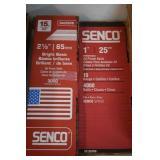 "2-Boxes of Senco 2 1/2 & 1"" Trim Nails"