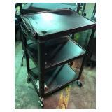 Black projector cart