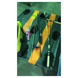 Lot of four junior fishing poles and reels