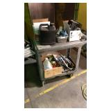 Heavy duty cart with miscellaneous items. Pickers