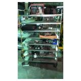 Cart of miscellaneous fuel transfer pumps, and